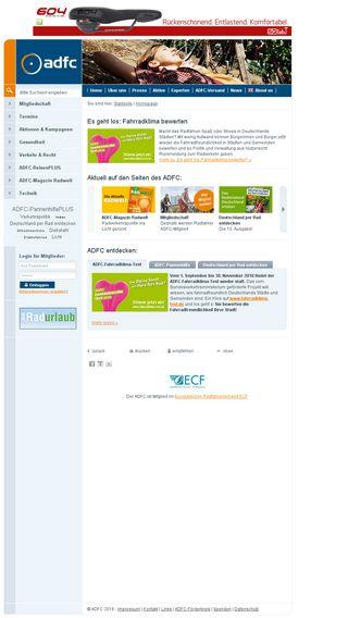 Mobile preview of adfc.de