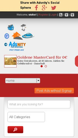 Mobile preview of adsnity.in