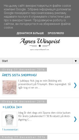 Mobile preview of agneswinqvist.se