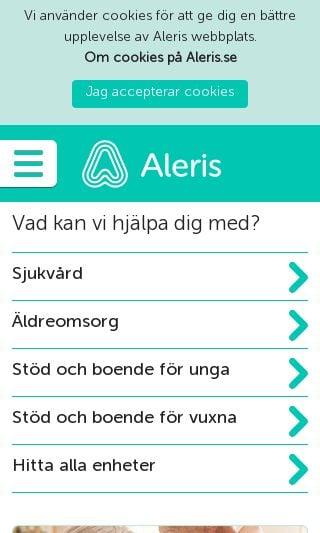 Mobile preview of aleris.se