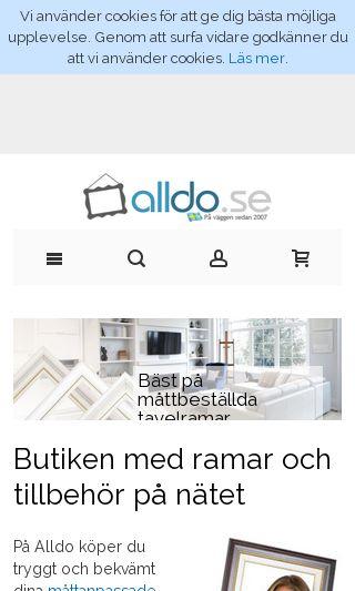 Mobile preview of alldo.se