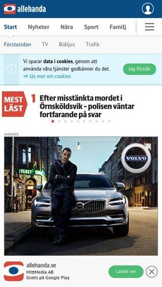 Mobile preview of allehanda.se