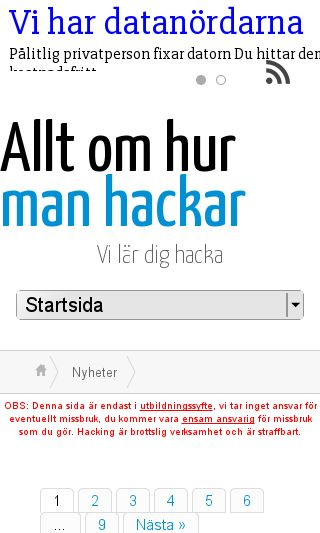 Mobile preview of alltomhacking.se