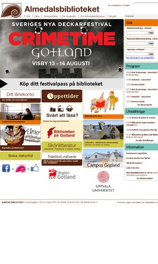 Mobile preview of almedalsbiblioteket.se