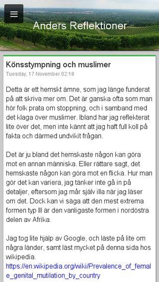 Mobile preview of andersreflektioner.se