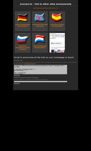 Mobile preview of anonym.to