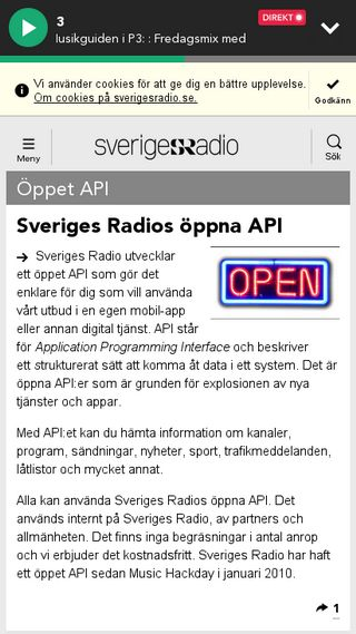 Mobile preview of api.sr.se