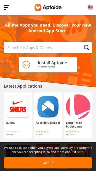 Mobile preview of aptoide.com