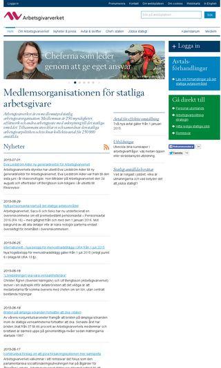 Mobile preview of arbetsgivarverket.se