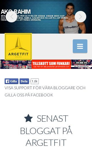 Mobile preview of argetfit.se