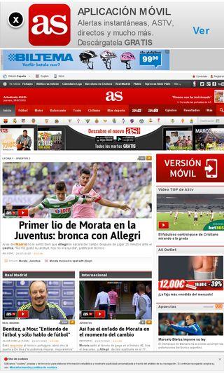 Mobile preview of as.com