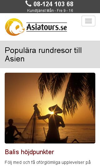 Mobile preview of asiatours.se