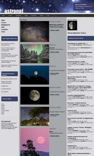 Mobile preview of astronet.se