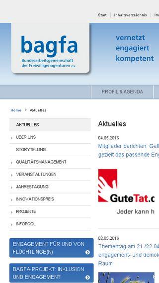 Mobile preview of bagfa.de