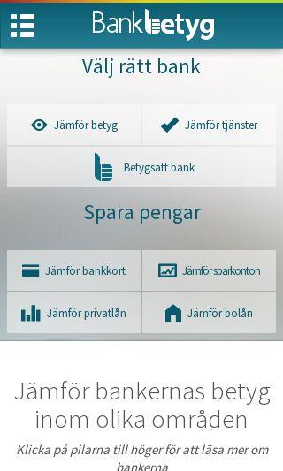Mobile preview of bankbetyg.se