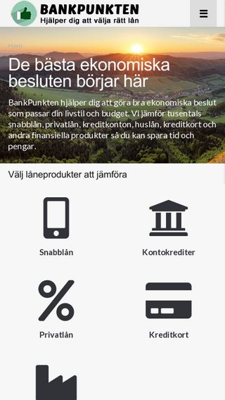 Mobile preview of bankpunkten.se