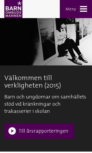 Mobile preview of barnombudsmannen.se