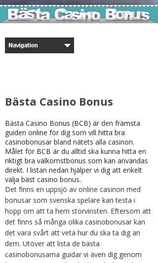 Mobile preview of bastacasinobonus.se