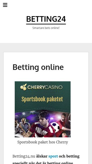 Mobile preview of betting24.nu