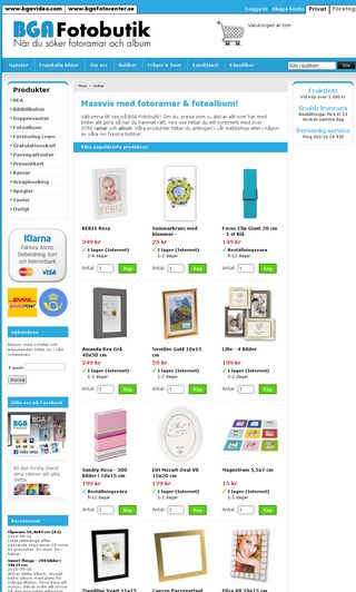 Mobile preview of bgafotobutik.se