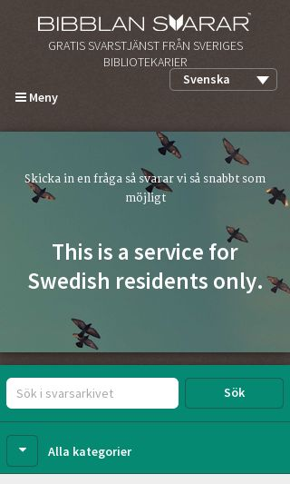 Mobile preview of bibblansvarar.se