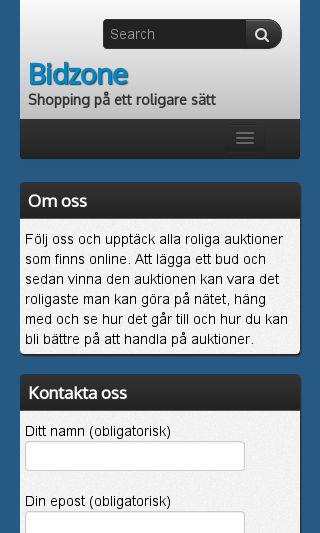 Mobile preview of bidzone.se