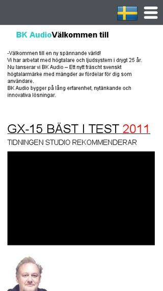 Mobile preview of bkaudio.se