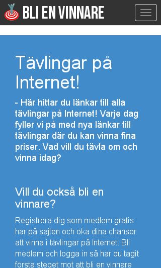 Mobile preview of blienvinnare.com