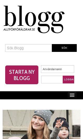 Mobile preview of blogg.alltforforaldrar.se