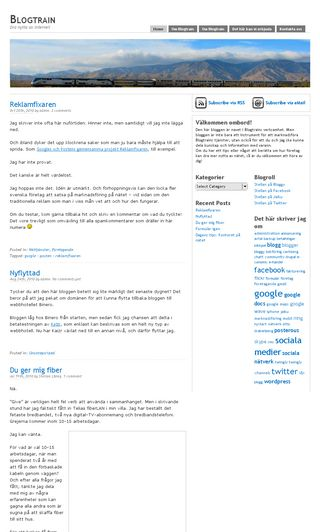 Mobile preview of blogtrain.se