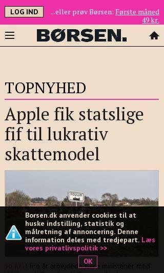 Mobile preview of borsen.dk