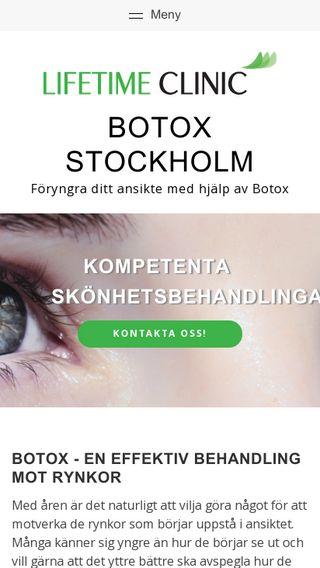 Mobile preview of botoxstockholm.nu