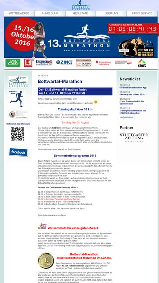 Mobile preview of bottwartal-marathon.de