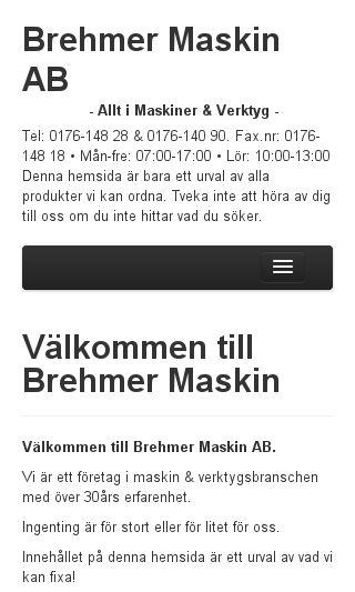Mobile preview of brehmermaskin.se