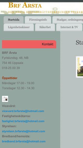 Mobile preview of brfarsta.se