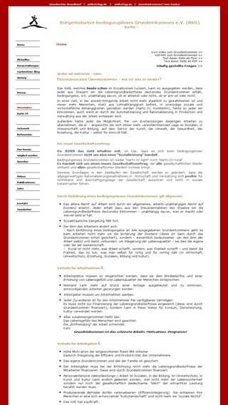 Mobile preview of buergerinitiative-grundeinkommen.de