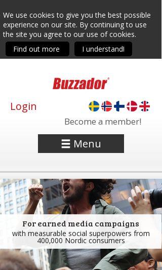 Mobile preview of buzzador.com