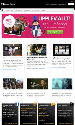 Mobile preview of canaldigital.se