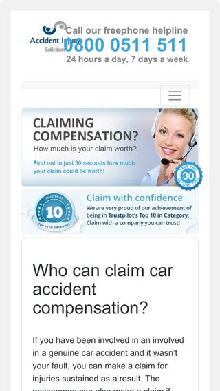 Mobile preview of car-accident-claims.co.uk