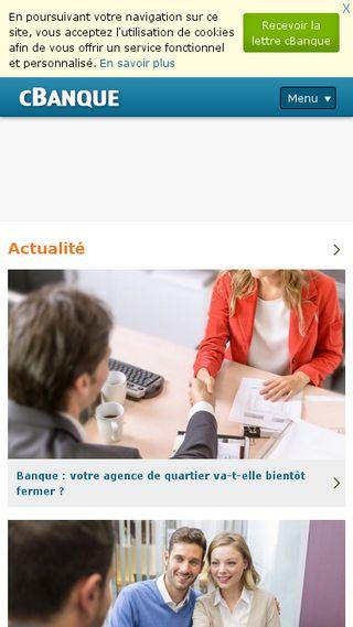 Mobile preview of cbanque.com