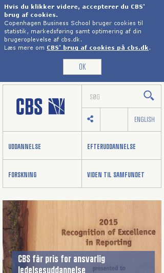 Mobile preview of cbs.dk