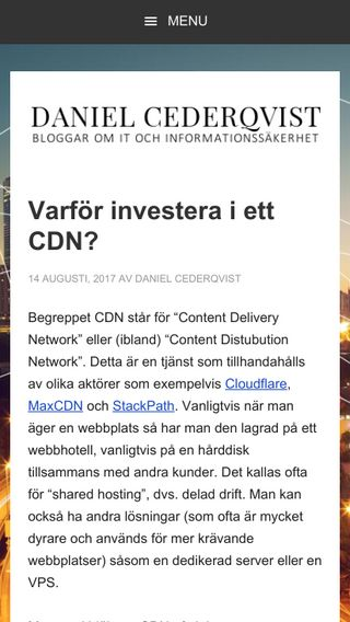 Mobile preview of cederqv.ist