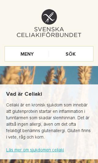 Mobile preview of celiaki.se