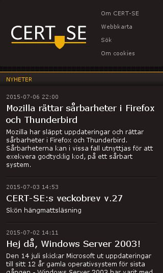 Mobile preview of cert.se