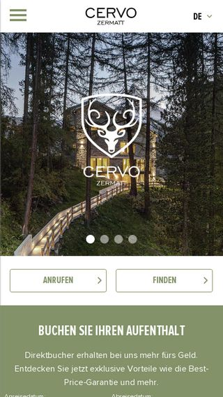 Mobile preview of cervo.ch