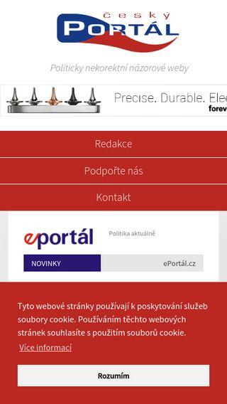 Mobile preview of cesky-portal.cz