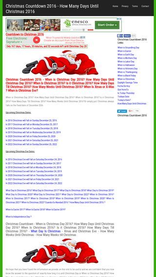 Mobile preview of christmascountdown.org