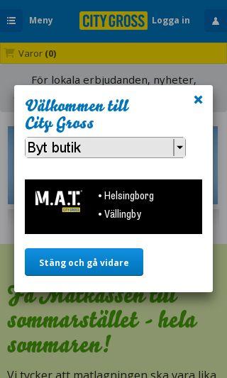 Mobile preview of citygross.se