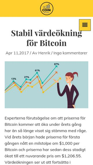 Mobile preview of coinbuddy.se