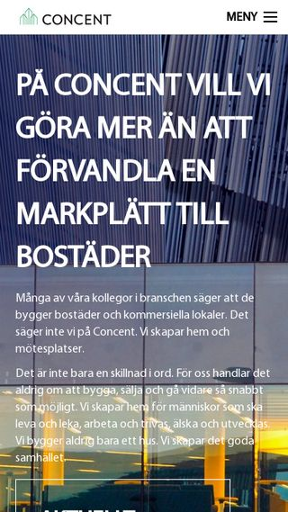 Mobile preview of concent.se